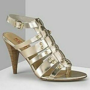 Michael Kors Gold Studded Gladiator Heels
